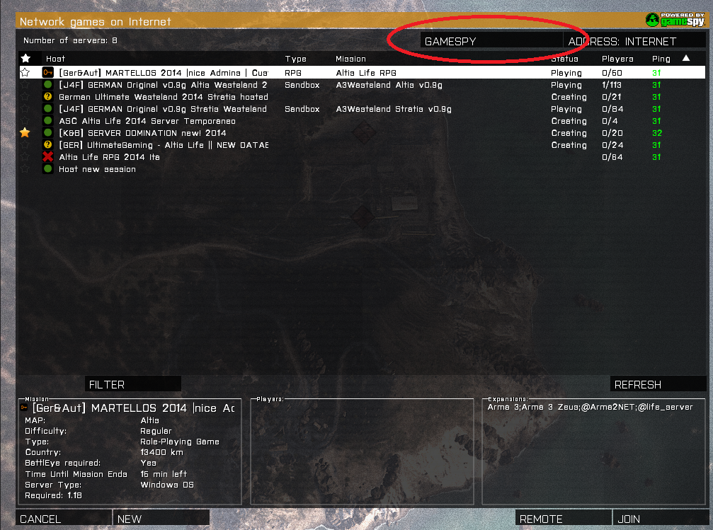 Can't find your ARMA 3 server in the server list?